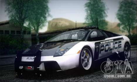 Lamborghini Murciélago polícia 2005 para GTA San Andreas