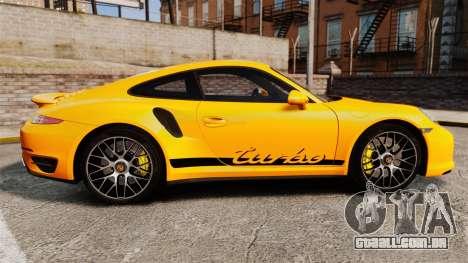 Porsche 911 Turbo 2014 [EPM] Turbo Side Stripes para GTA 4 esquerda vista