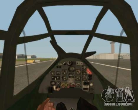 Junkers Ju-87 Stuka para GTA San Andreas vista interior