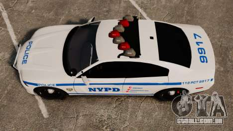 Dodge Charger 2012 NYPD [ELS] para GTA 4 vista direita