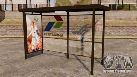 Paragens de autocarro Naruto para GTA 4 terceira tela