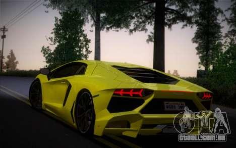Lamborghini Aventador LP720-4 50th Anniversario para GTA San Andreas esquerda vista