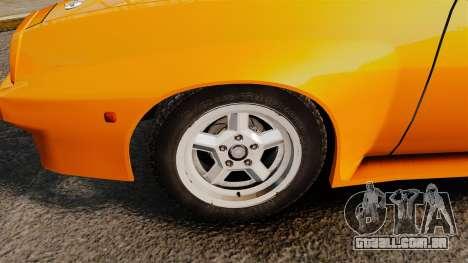 Opel Manta para GTA 4 vista de volta