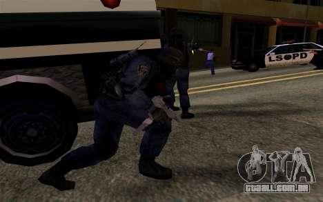 SWAT de Manhunt 2 para GTA San Andreas por diante tela