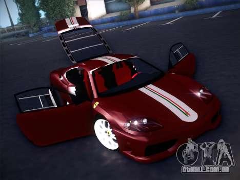 Ferrari 360 Challenge Stradale para GTA San Andreas vista superior