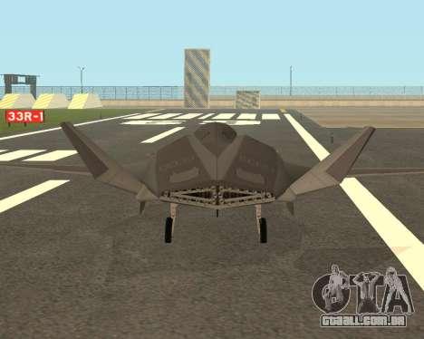 FA-37 Talon para GTA San Andreas vista direita