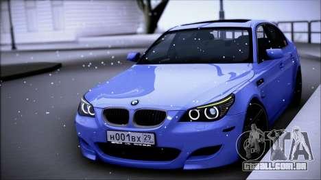 BMW M5 E60 para GTA San Andreas esquerda vista