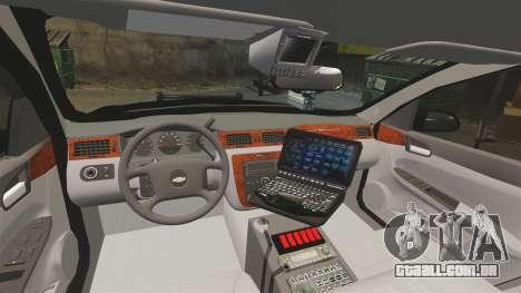 Chevrolet Impala 2008 LCPD STL-K Force [ELS] para GTA 4 vista de volta