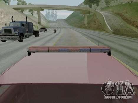 Chevrolet Caprice SFPD 1991 para GTA San Andreas vista direita