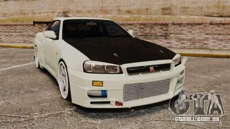 Nissan Skyline GT-R V-Spec II Mk.X [R34] para GTA 4