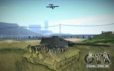 E-75 Tiger III para GTA San Andreas vista traseira
