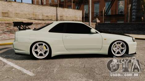 Nissan Skyline GT-R V-Spec II Mk.X [R34] para GTA 4 esquerda vista