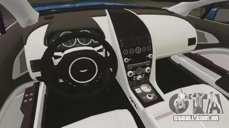 Aston Martin Rapide 2010 para GTA 4 vista interior