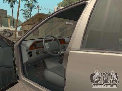 Chevrolet Caprice SFPD 1991 para GTA San Andreas vista traseira