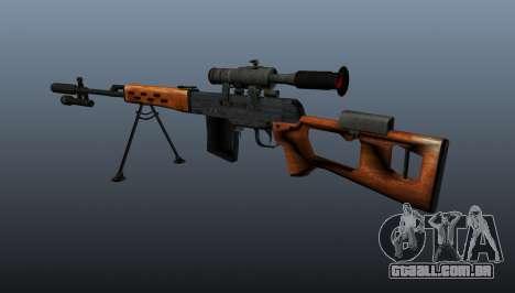 Dragunov sniper rifle A & K para GTA 4 segundo screenshot