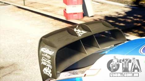 Ford Focus RS M Gronholm Rally Finland WRC para GTA 4 vista de volta