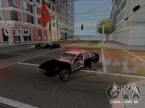 Chevrolet Caprice SFPD 1991 para GTA San Andreas esquerda vista