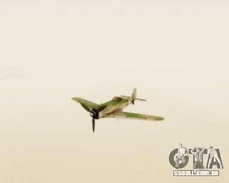 Focke-Wulf FW-190 D12 para GTA San Andreas vista traseira