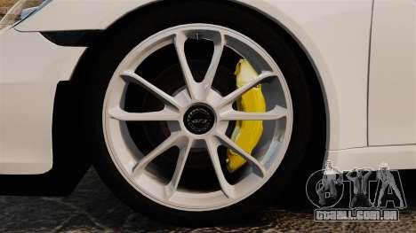 Porsche 911 GT3 (991) 2013 para GTA 4 vista de volta