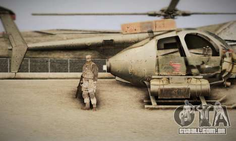 Spec Ops The Line AH6 para GTA San Andreas vista direita