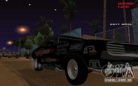 Challenger Missile para GTA San Andreas traseira esquerda vista