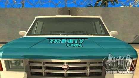 News Van HQ para GTA San Andreas vista direita