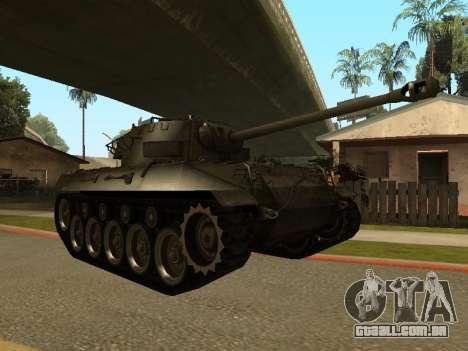 M18-Hellcat para GTA San Andreas esquerda vista