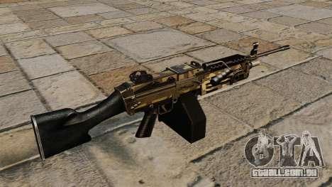 A M249 luz metralhadora Camo para GTA 4 segundo screenshot