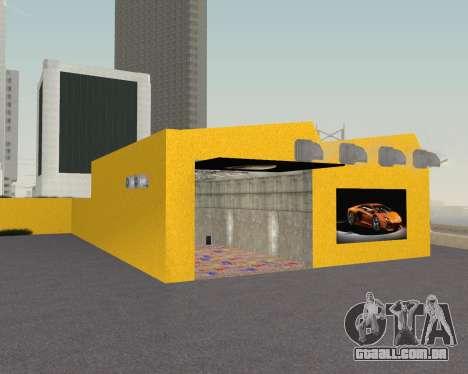 Lamborghini Dealer San Fierro para GTA San Andreas quinto tela