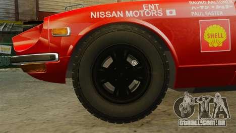 Datsun 240Z 1971 East African Safari para GTA 4 vista de volta