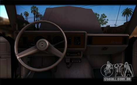 Ford Fairmont 1978 4dr Police para GTA San Andreas vista traseira