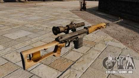 Rifle de sniper Dragunov para GTA 4 segundo screenshot