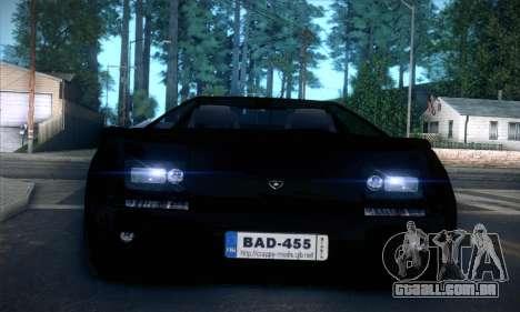 Lamborghini Diablo VT6.0 para GTA San Andreas vista superior