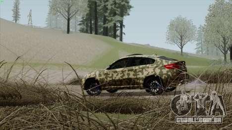 BMW X6M para GTA San Andreas vista inferior