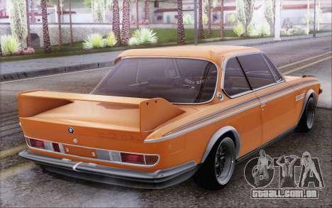 BMW 30 CSL 1971 para GTA San Andreas traseira esquerda vista