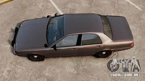 GTA V Unmarked Cruiser Police para GTA 4 vista direita