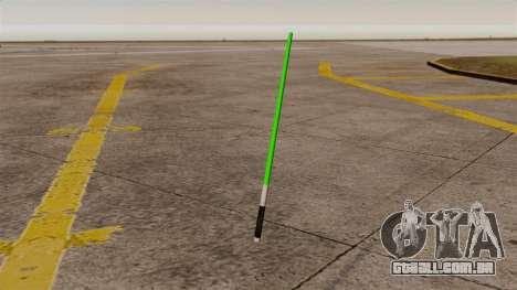 Espada laser verde Star Wars para GTA 4
