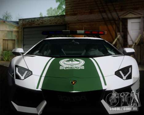 Lamborghini Aventador LP700-4 2012 RCPD V1.0 para GTA San Andreas vista interior