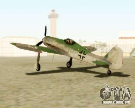 Focke-Wulf FW-190 D12 para GTA San Andreas esquerda vista