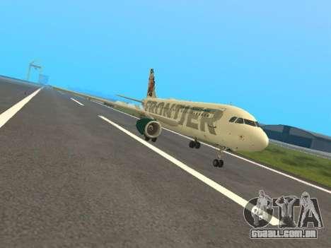 Airbus A319-111 Frontier Airlines Red Foxy para GTA San Andreas esquerda vista