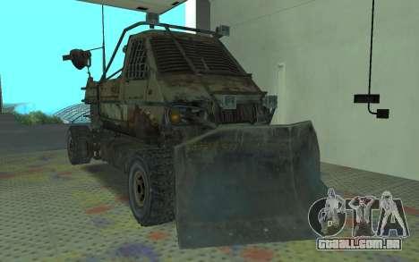 Gazela o Metro 2033 para GTA San Andreas traseira esquerda vista