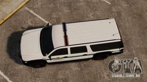 GTA V Declasse Granger Park Ranger para GTA 4 vista direita