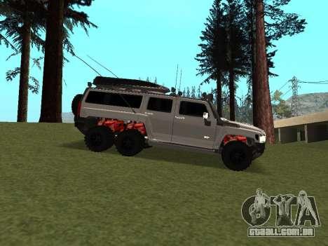 Hummer H3 6x6 para GTA San Andreas vista traseira
