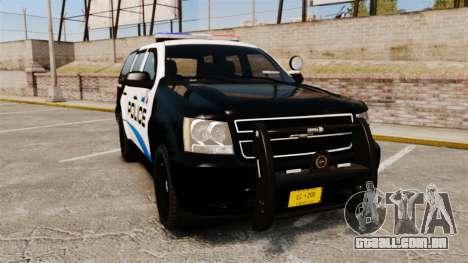 Chevrolet Tahoe Police [ELS] para GTA 4