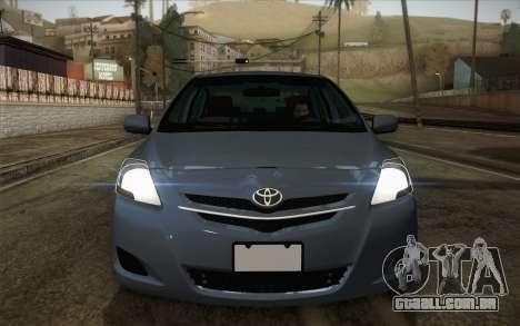 Toyota Vios 2008 para GTA San Andreas vista direita