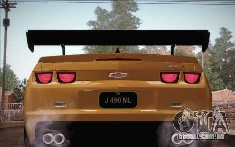 Chevrolet Camaro ZL1 para o motor de GTA San Andreas
