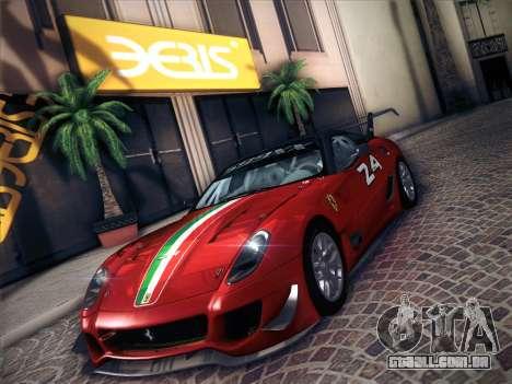 Ferrari 599XX 2012 para GTA San Andreas