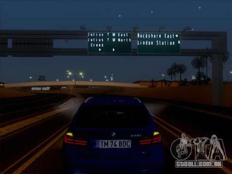 BMW 3 Touring F31 2013 para GTA San Andreas vista interior