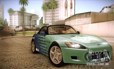 Honda S2000 para GTA San Andreas interior