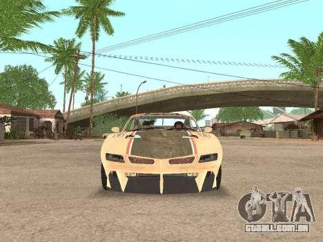 AMC Javelin AMX para GTA San Andreas vista traseira